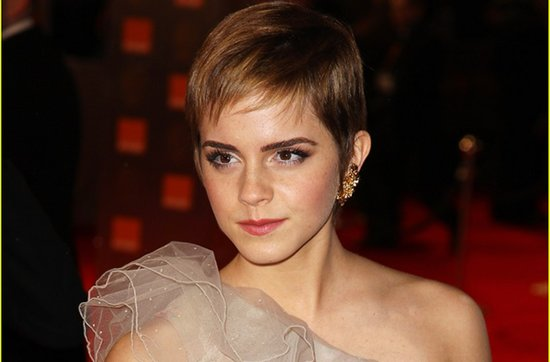 Short wedding hairstyles from the red carpet- Emma Watson