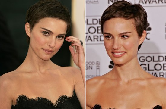 Short wedding hairstyles from the red carpet- Natalie Portman