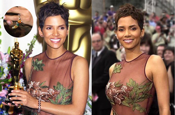 Short wedding hairstyles from the red carpet- Halle Berry