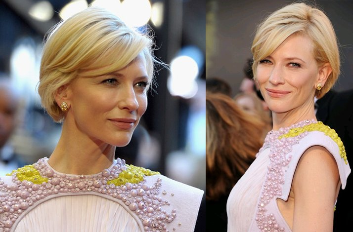 Short wedding hairstyles from the red carpet- Cate Blanchett