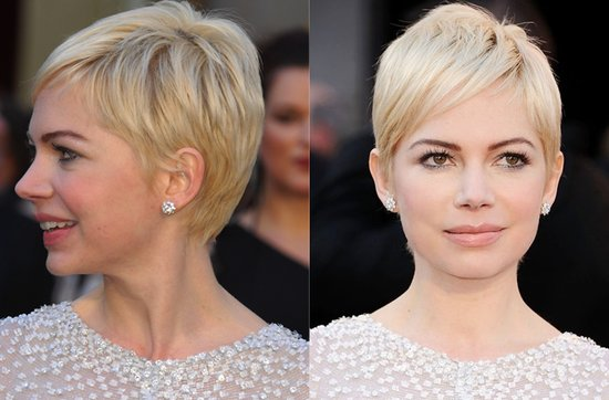 Short wedding hairstyles from the red carpet- Michelle Williams