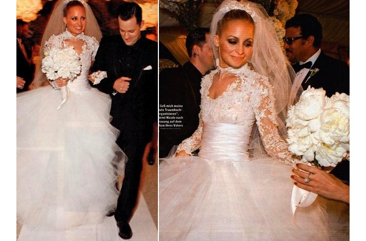 Celebrity brides by style- Nicole Richie, Black Swan Bride