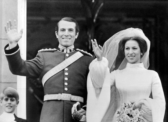 Celebrity brides by style- Princess Anne, equestrian bride
