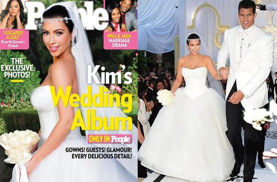 Celebrity brides by style- Kim Kardashian, spotlight bride