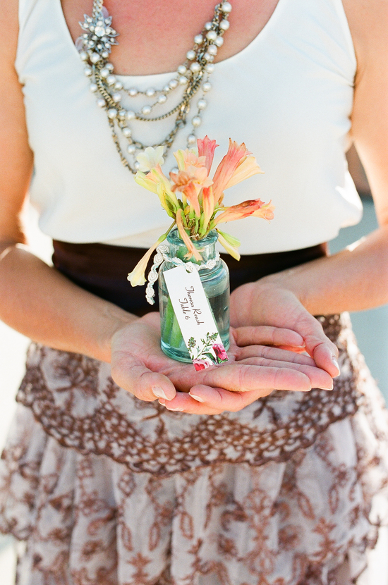 Sweet mini centerpiece wedding favors