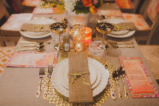 Rustic elegance wedding tablescape