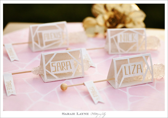 photo of Custom wedding escort cards that double as favors
