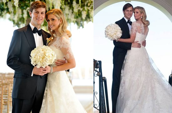 Celebrity brides by style- Ivanka Trump, modest romance