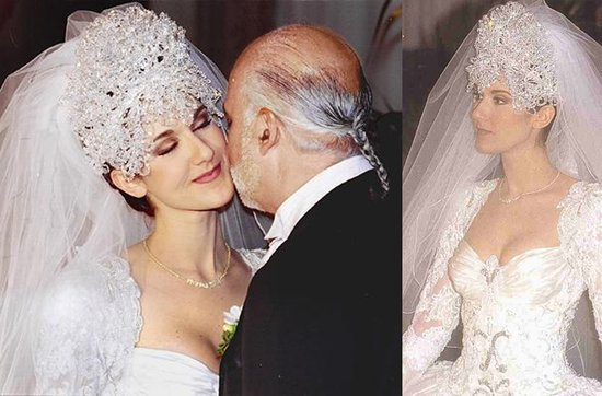 Celebrity brides by style- Celine Dion, over-the-top bride