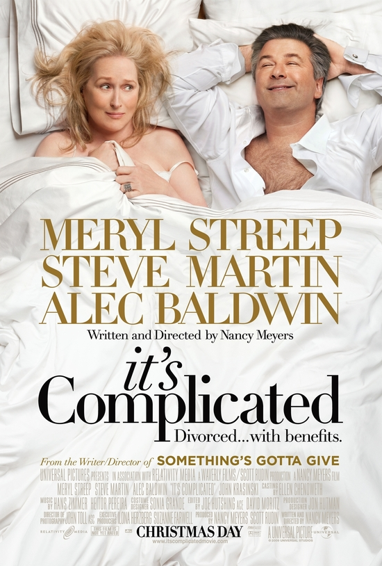 It's Complicated, starring Meryl Streep and Alec Baldwin, in theaters on Christmas Day!