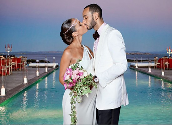 Celebrity brides by style- Alicia Keys, beach bride