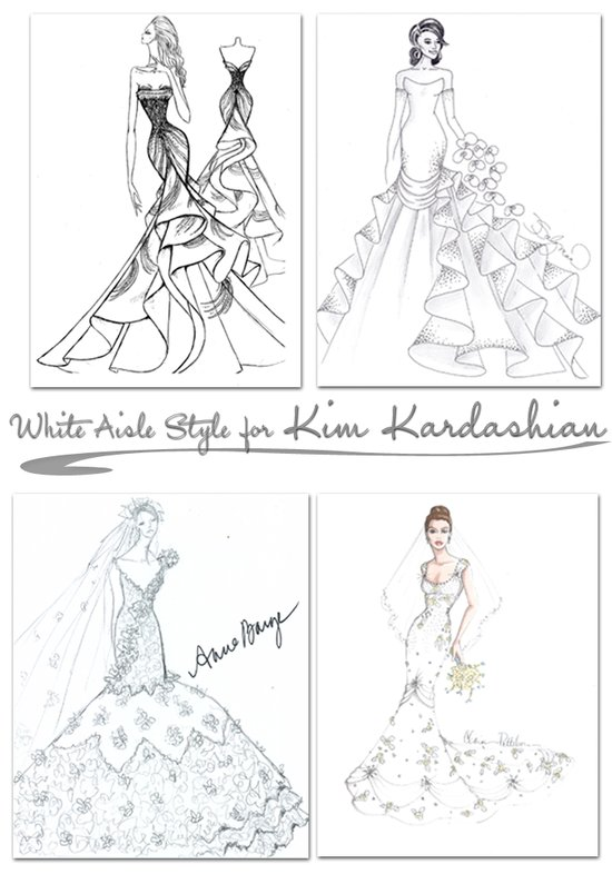 Top designers predict what Kim Kardashian's wedding dress will look like!