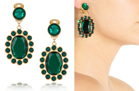 emerald green bridal earrings