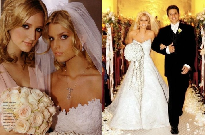 brides by style- Jessica Simpson, romantic bride