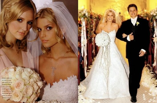 Celebrity brides by style- Jessica Simpson, romantic bride