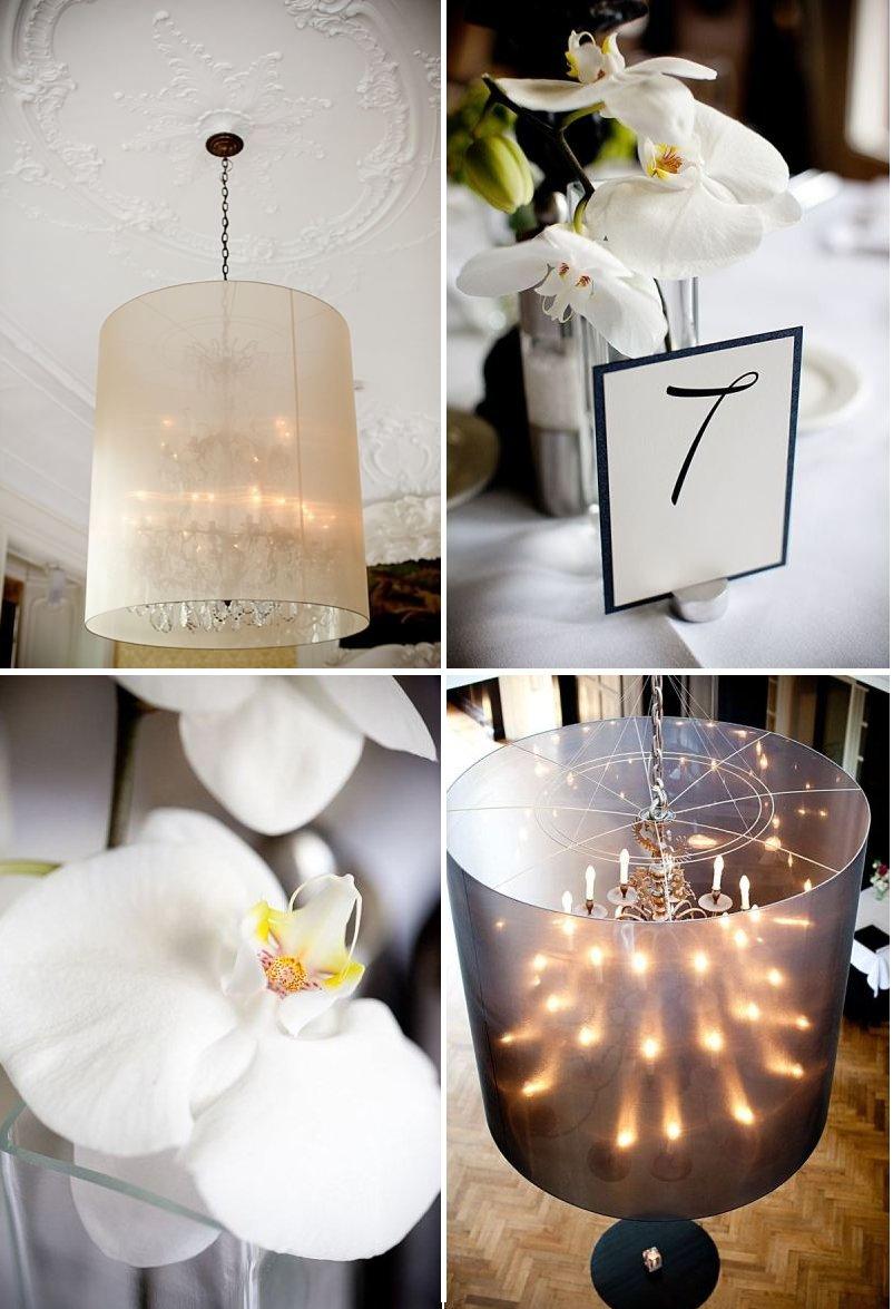 black white wedding decor orchid wedding flowers