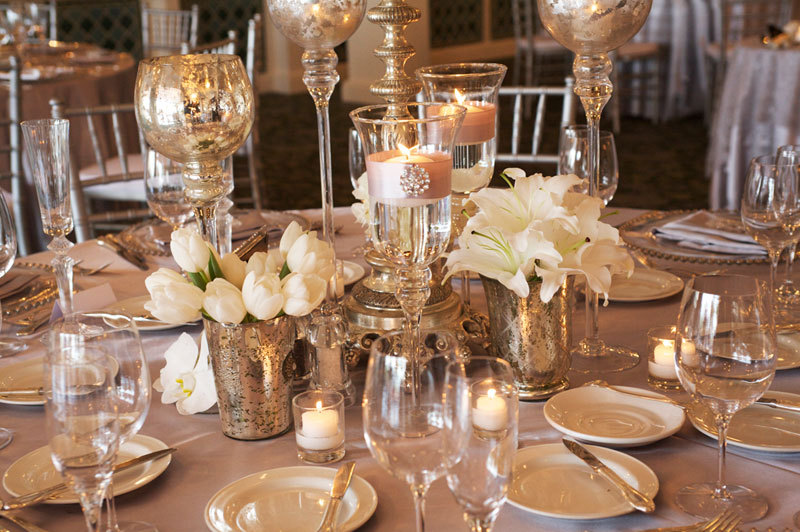 Elegant-ivory-wedding-flowers-tulips-lillies-mercury-glass-1.full