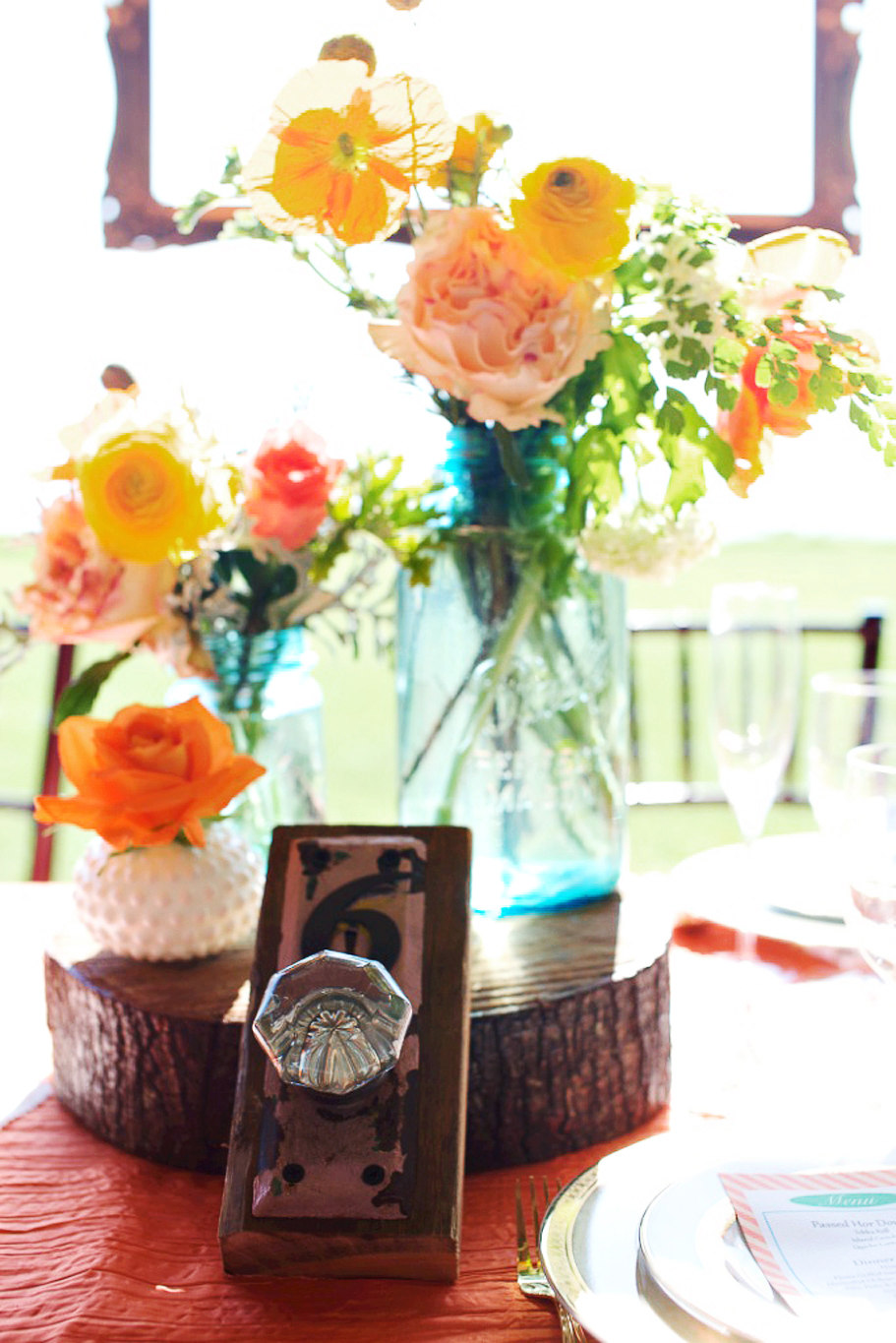 Rustic Citrus Wedding Inspiration Outdoor Spring Ideas Mason Jar Centerpieces
