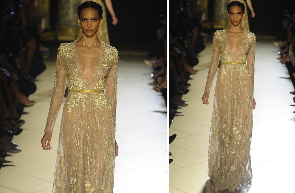 runway to white aisle wedding dress inspiration elie saab couture fall 2012 3