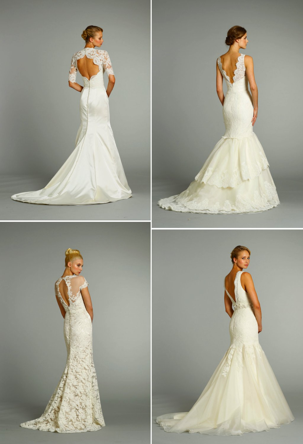 romantic 2012 wedding dresses lace with statement backs by Jim Hjelm