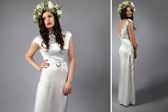 gorgeous Etsy wedding dresses handmade bridal gown silk vintage inspired