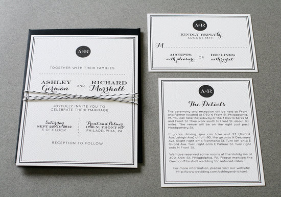 wedding invitations for modern weddings Etsy wedding finds classic black white