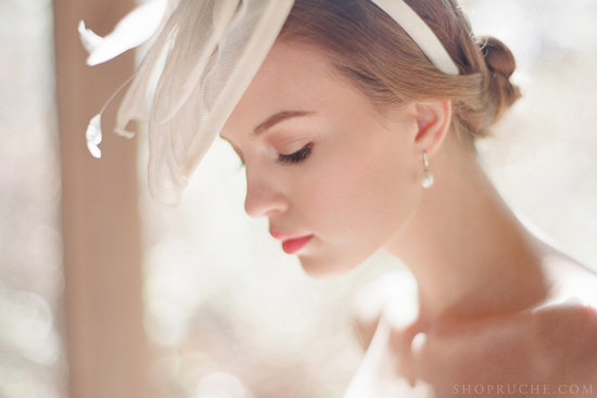 Vintage wedding veil by Ruche