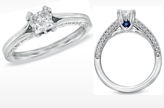 Vera Wang LOVE Engagement Ring- Simple princess cut