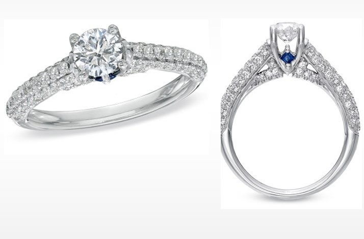 Vera Wang LOVE engagement ring- Classic round diamond