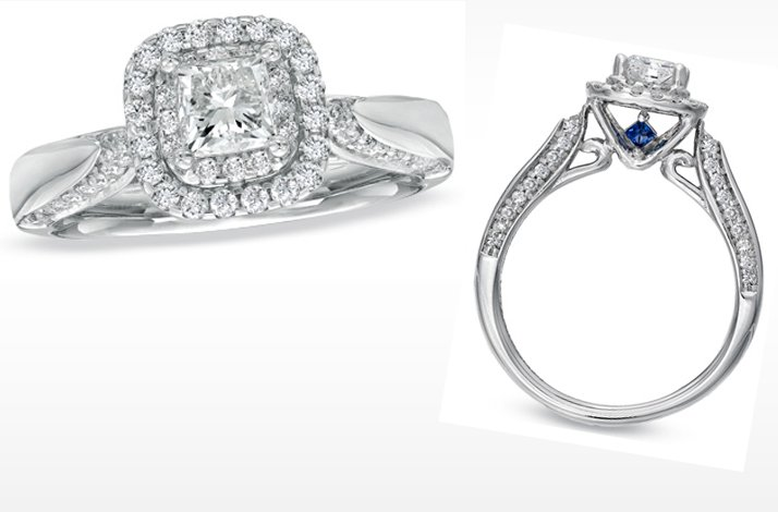vera wang engagement ring princess cut