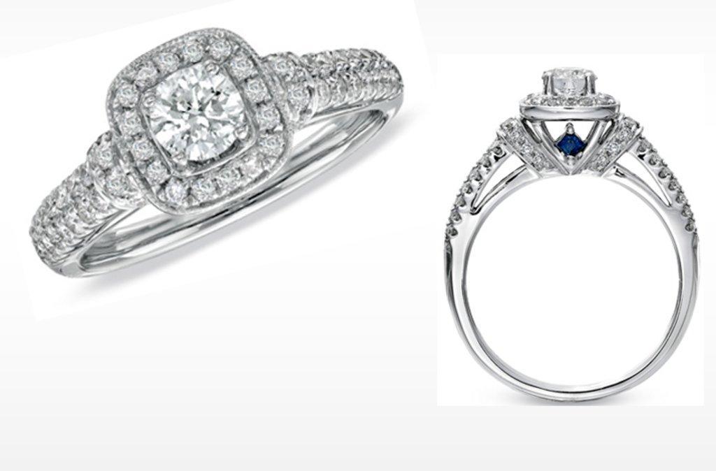 vera wang love engagement ring diamond and sapphire wedding ring set - Vera Wang Wedding Ring