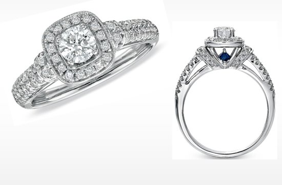 Vera Wang LOVE engagement ring- Diamond frame engagement ring