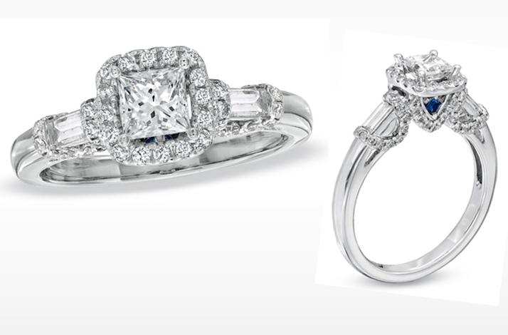 vera wang engagement ring princess cut with
