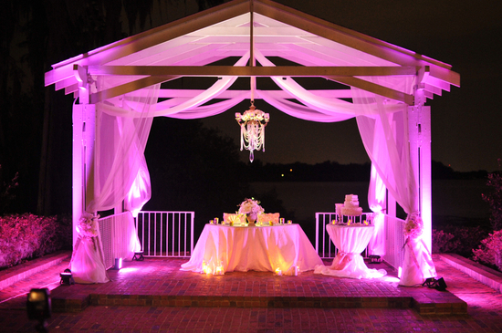 Enchanted wedding sweetheart table in Florida