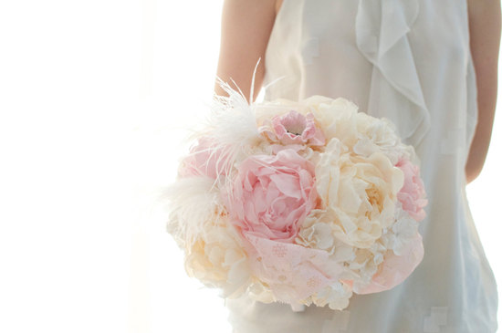 Peony and hydgrangea alternative wedding bouquet