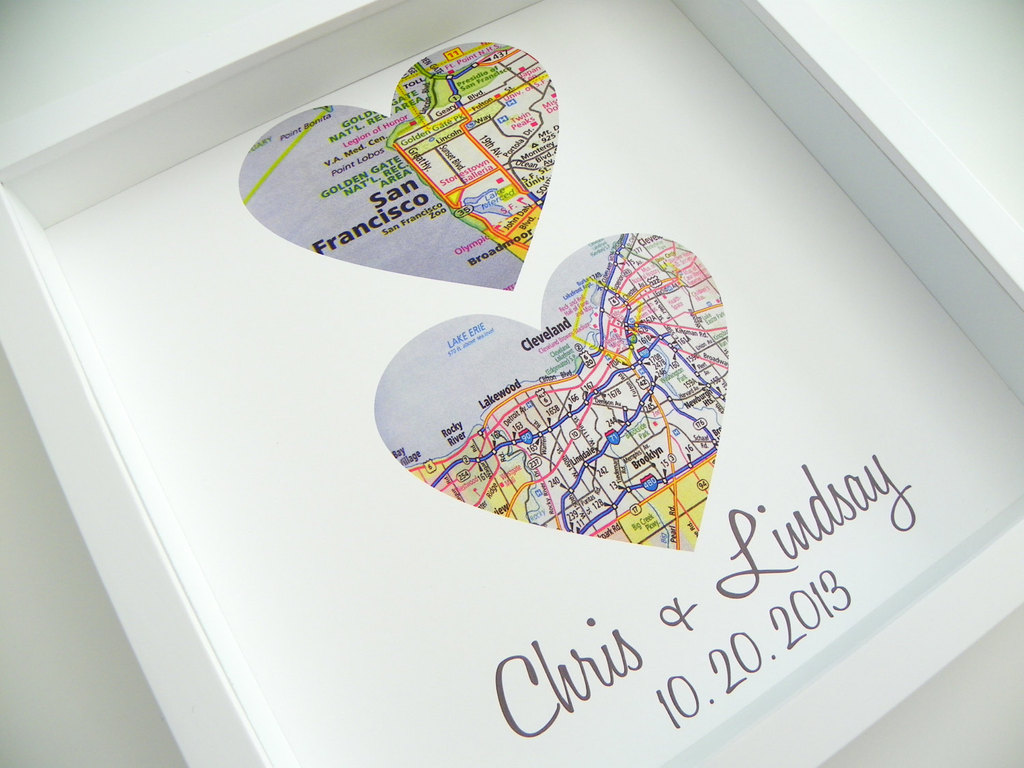 City Map Custom Wedding Art