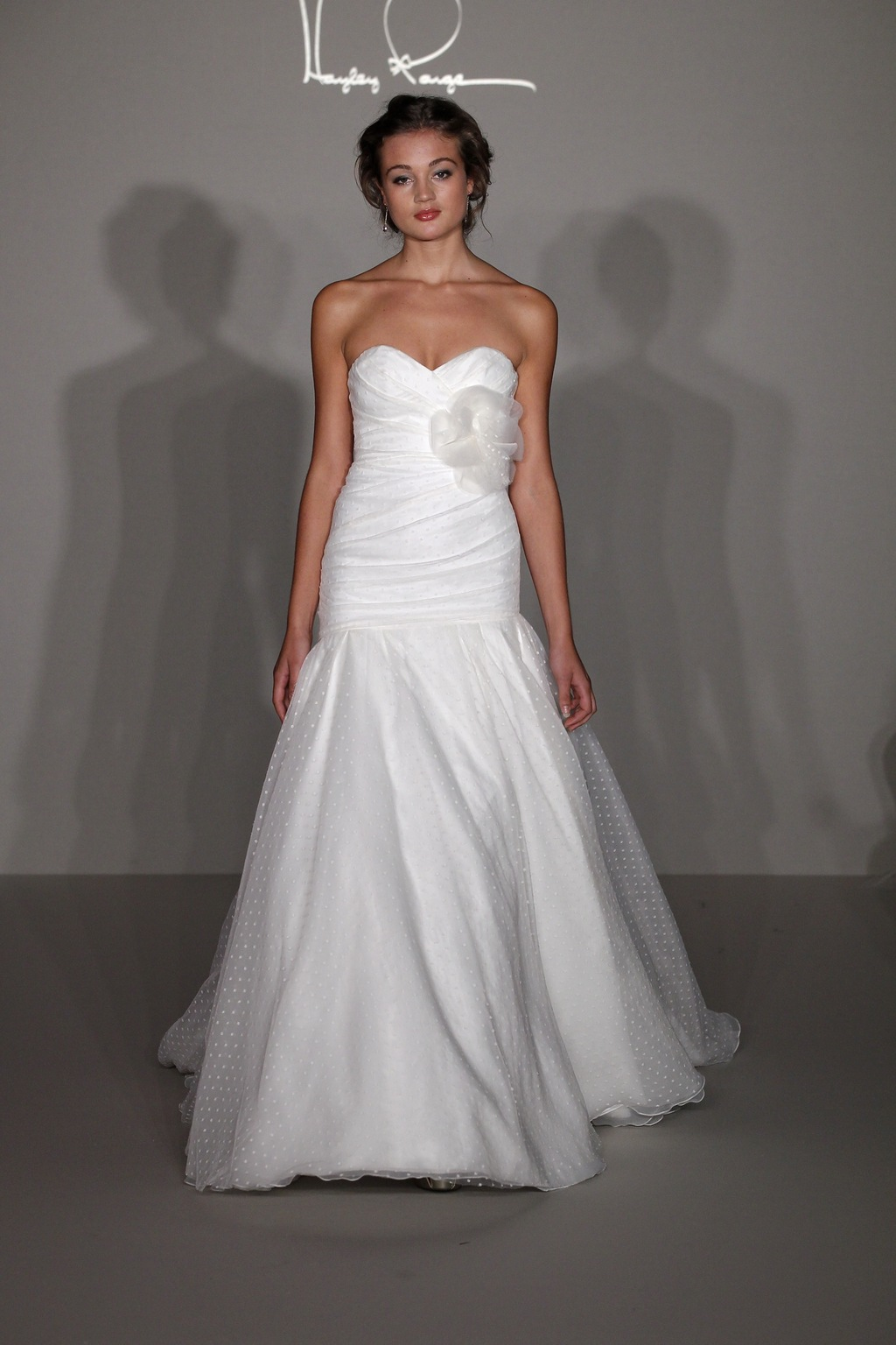 Hayley Paige 2012 wedding dress in point d'esprit fabric