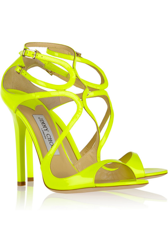 Neon Yellow Jimmy Choo wedding shoes