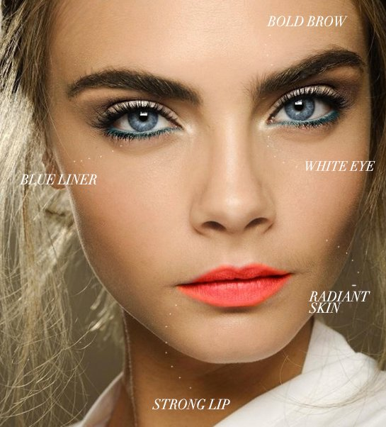 photo of On trend wedding makeup for fall 2013
