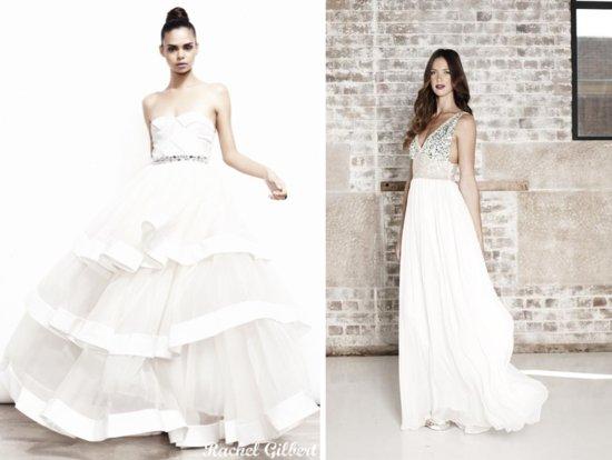 photo of Edgy glamour Rachel Gilbert wedding dresses