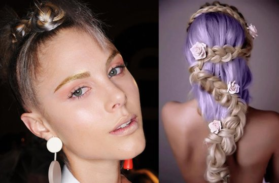 Bohemian bridal hair and makeup high fashion inspiration