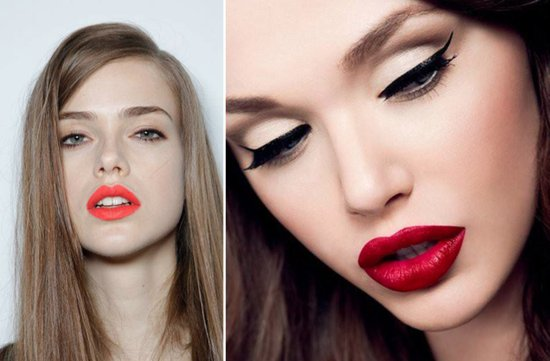 Bold lips fall wedding makeup trends