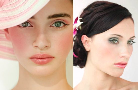 Pretty in Pink wedding makeup