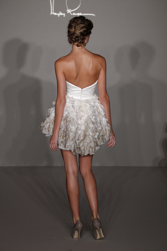 Spring 2012 wedding dress- Hayley Paige for JLM Couture, style 6209 little white dress (back)