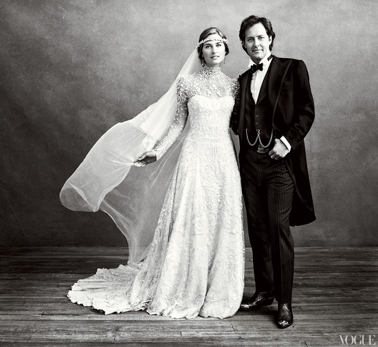 Celebrity wedding dresses- Lauren Bush's custom Ralph Lauren bridal gown