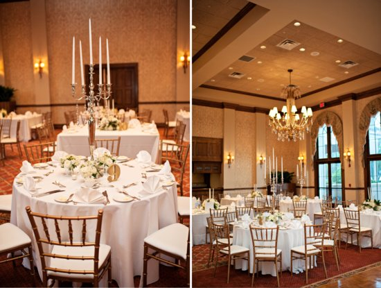 Elegant wedding reception setup for classic Florida nups