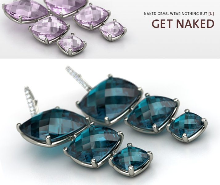 Wedding jewelry gets naked- Gemvara naked gemstone engagement rings and pendants