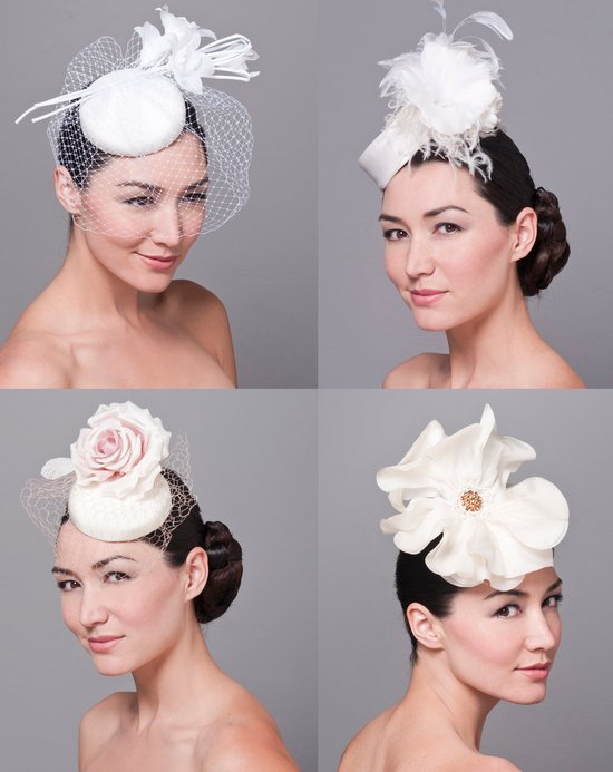 Royal wedding-inspired wedding hats and bridal fascinators