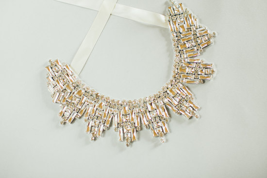 Art deco inspired statement wedding necklace