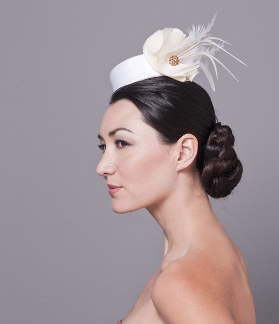 Pillbox wedding hat inspired by head chic at royal wedding